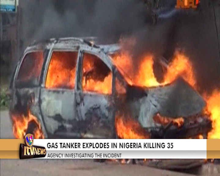 ITV Networks Channel 347 - GAS TANKER EXPLODES IN NIGERIA