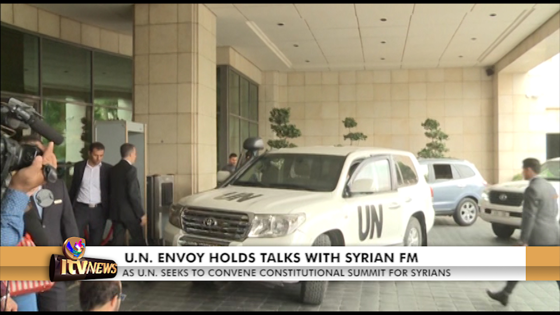 ITV Networks Channel 347 - U N  ENVOY HOLDS TALKS WITH SYRIAN