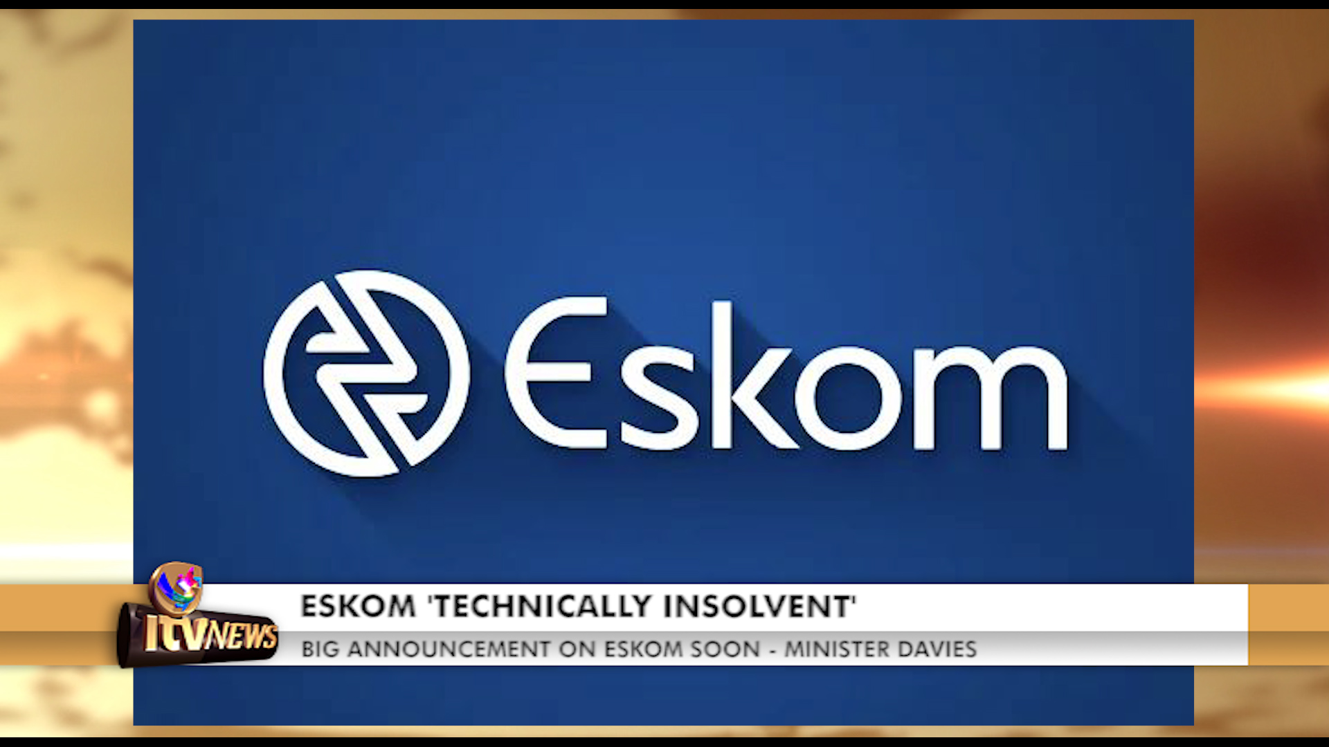 ITV Networks Channel 347 - ESKOM 'TECHNICALLY INSOLVENT'